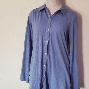J. Jill blue button up blouse M